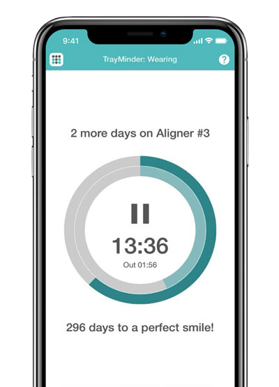 Track your daily wear time<br>easily with a timer